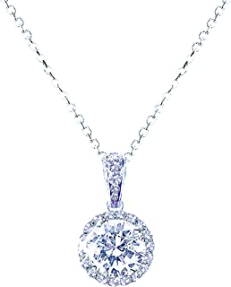 Landau Jewelry Women's Necklace - Deluxe Pave Stud -...