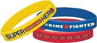 Party Centre Amscan Spider-Man Rubber Bracelets 6pcs