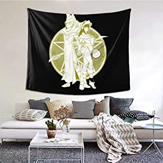 Kaivi Magician Girls and Dark Magician Wall Tapestry for Home Decorations Durable Easy to Hanging