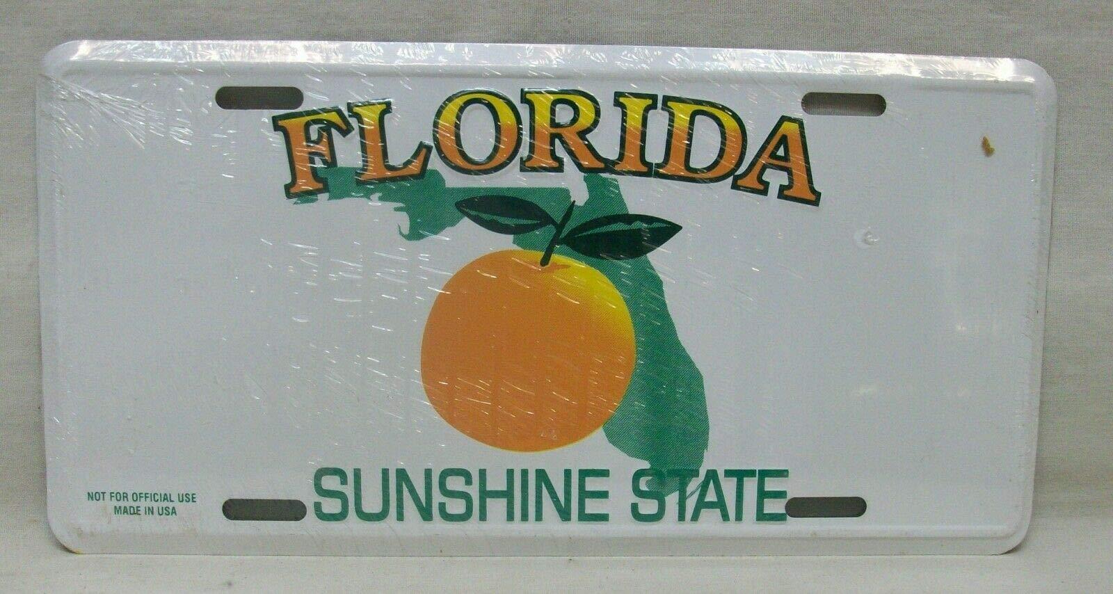 Inga Placa de matrícula 15 x 30 cm, diseño Vintage de Florida ...