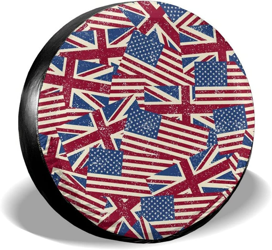PNNUO Spare Tire Covers USA Flag British Soldering Sales results No. 1 C and Wheel