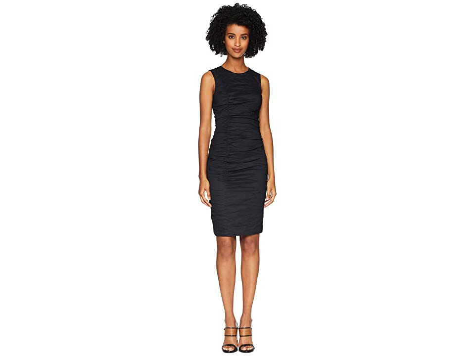 Nicole Miller Tuck Dress (Black) Women