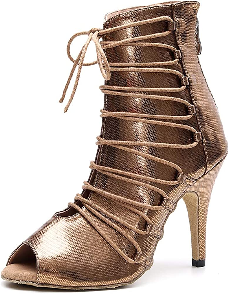 SWDZM Women's Latin Dance Selling Shoes Lace Up Party Wedding Salsa Dallas Mall Fash