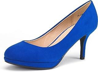 6153a9360ba DREAM PAIRS Tiffany Women s New Classic Elegant Versatile Low Stiletto Heel  Dress Platform Pumps Shoes