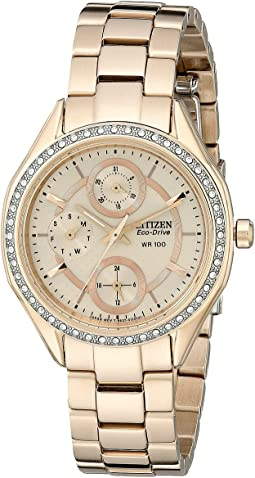 FD1063-57X Eco-Drive POV 2.0 Rose Gold Tone Swarovski Crystal Watch