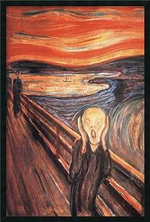 Framed Wall Art Print The Scream, 1893 by Edvard Munch 25.25 x 37.25