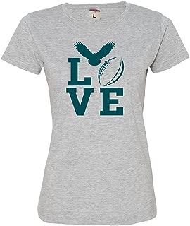 Womens Love Football Philadelphia Deluxe Soft T-Shirt