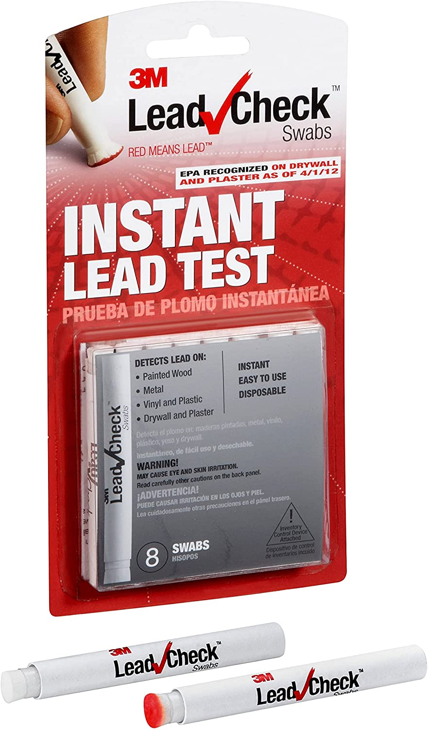 3M LeadCheck Swabs Instant Limited time for free shipping Test Lead Over item handling ☆ 8-Pack