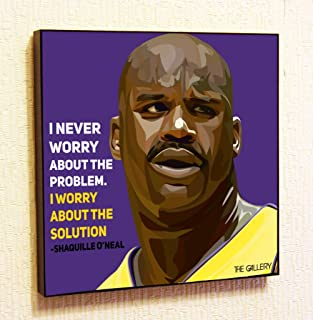Shaquille O'Neal NBA Backetball Motivational Quotes Wall Decals Pop Art Gifts Portrait Framed Famous Paintings on Acrylic Canvas Poster Prints Artwork (10x10