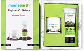 Mamaearth Charcoal Secrets C3 Face Mask, 100ml + Charcoal Facewash, 100ml with charcoal & coffee
