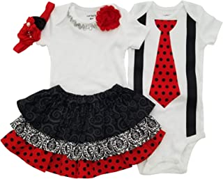 Boy Girl Twin Outfits Scarlett and Scott USA Made
