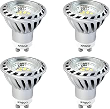CYLED Pack of 4 Units Gu10 6W Super Bright Led Light Bulb, Equivalent to 50W Halogen Bulb, Led Spotlight, Down Lamp, Energ...
