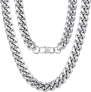 ChainsPro Men Chunky Miami Cuban Chain Necklace, Custom...