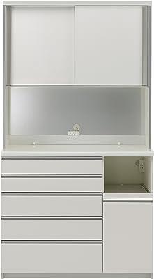 パモウナ 食器棚WG パールホワイト 幅120×高さ214×奥行45 日本製 WGR-S1200R