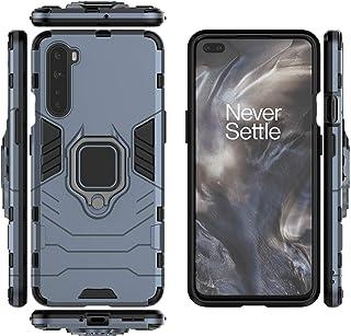 جراب QiongNi لهاتف OnePlus Nord Case Cover ، حامل حلقي دوار 360 درجة مع حامل مغناطيسي للسيارة لهواتف OnePlus Nord 5G AC200...