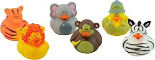Giggle Time Safari Animal Rubber Ducks Assortment - (24) Pieces - Assorted Styles - for Kids, Boys and Girls, Party Favors, Pinata Stuffers, Children's Gift Bags, Carnival Prizes