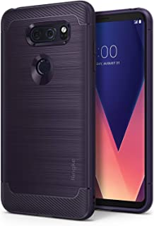 Ringke Onyx Compatible with LG V30 ThinQ Case Flexible TPU Shock Absorbent Phone Cover for LG V30, V30 Plus - Plum Violet