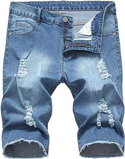 LATUD Men's Casual Denim Shorts (No Belt)