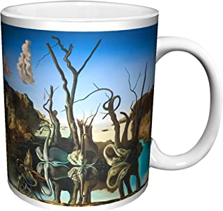 Salvador Dali Swans Reflecting Elephants Fine Surrealist Art Ceramic Gift Coffee (Tea, Cocoa) 11 Oz. Mug