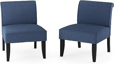 Furinno Belfort Modern Accent Chair, Denim