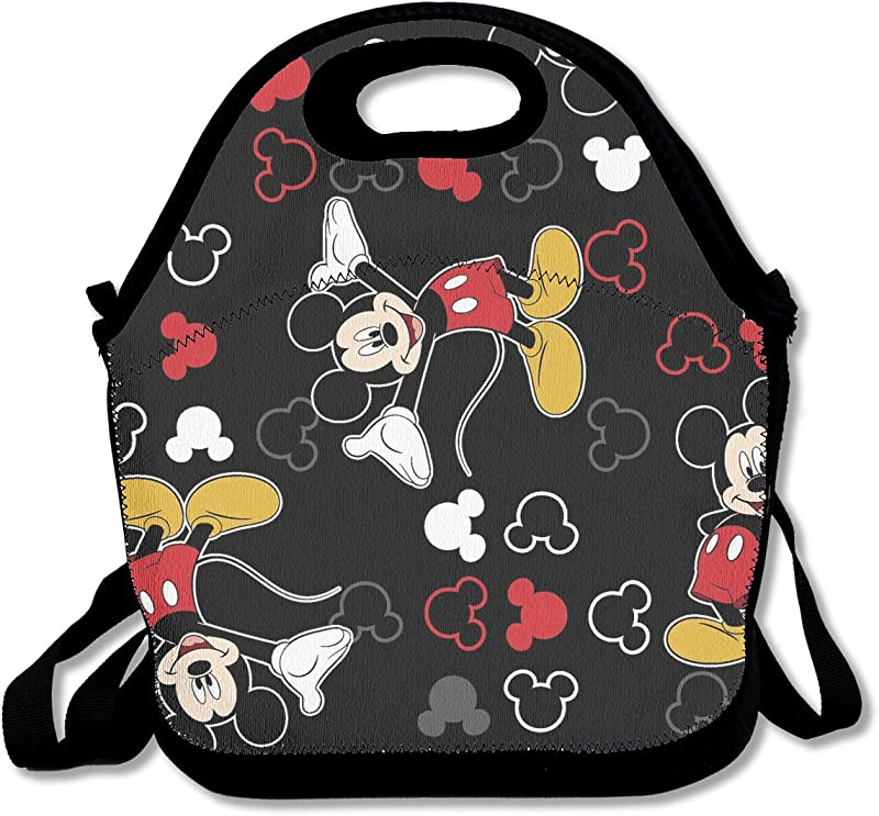 LIUYAN Custom Lunch Bags Mickey Mouse Black Waterproof Bag For Work School Picnic