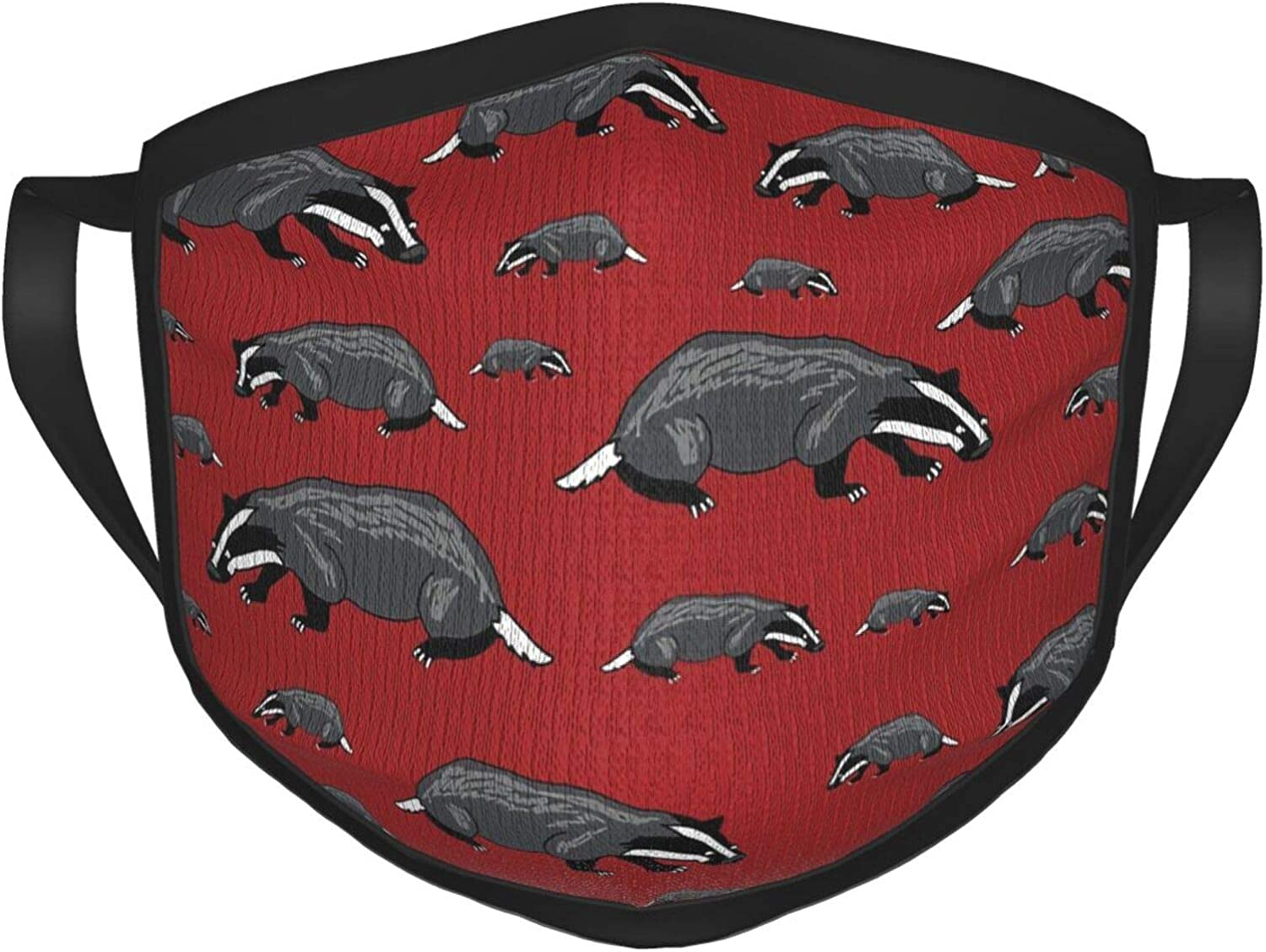 Save The Badgers Red Cartoon Unisex, Comfortable, Breathable, Reusable and Washable Balaclava dustproof Cotton face mask