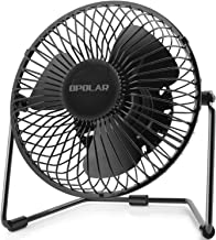 OPOLAR 5-Inch USB Desk Fan, Portable Mini Personal Fan with Two Speed-Settings, Super..