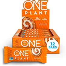 ONE Plant Protein Bars Carrot Cake Vegan Gluten Free Protein Bars with 12g Protein Only 1g Sugar Guilt-Free Snacking for High Protein Diets 1 59 Oz 12 Pack Estimated Price : £ 70,95