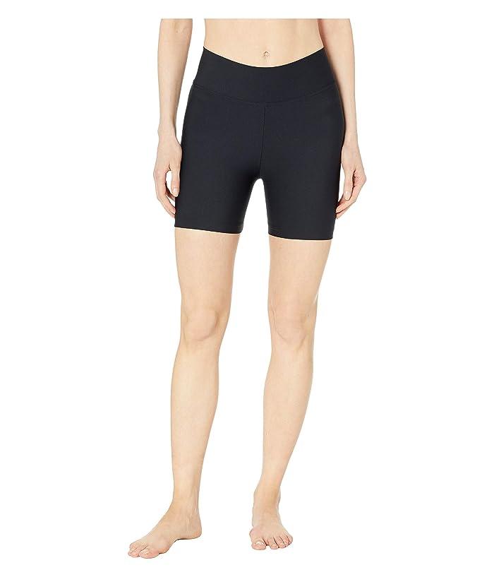 Plush Compression Spandex Active Bike Shorts (Black) Women