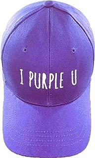 BTS I Purple U Hat V Cap Snapback Hip Hop Flat Hat for Army for Boys & Girls