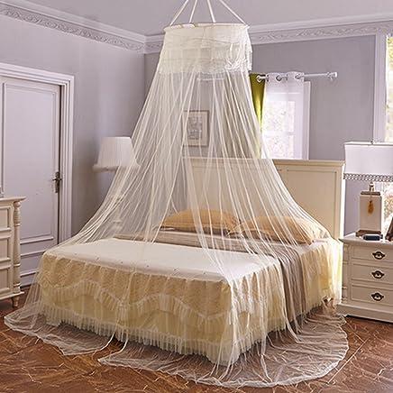 WiFndtu Moustiquaire romantique en dentelle pour lit double ...