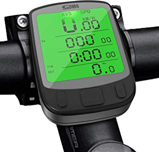 comprar comparacion SPLAKS Cuentakilómetros para Bicicleta de múltiples Funciones, Impermeable,Pantalla retroiluminada, Gran LCD Pantalla,HD P...