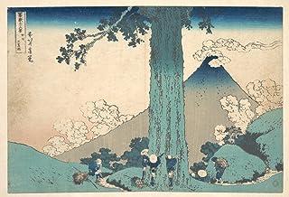ArtWall Katsushika Hokusais The Fuji Seen from The Mishima Pass Removable Wall Art 16 x 24