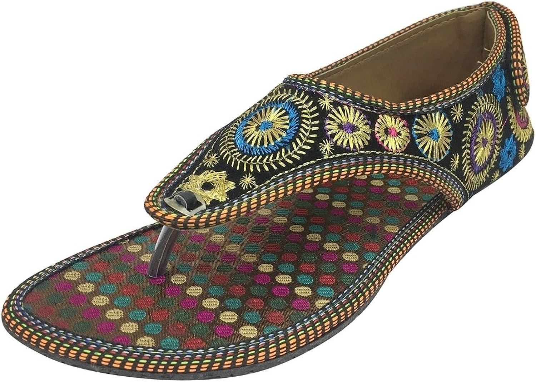 Step n Style Flat Traditional Sandals Ethnic Beaded Sandals Flat Mojari Boho Jootie