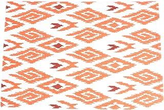 Saro LifeStyle 17005.TG1319B Ikat Printed Design Placemat, Tangerine, 13