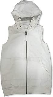 SG2 Girls Sleeveless Cotton White Hoodie (5yrs to 13yrs)