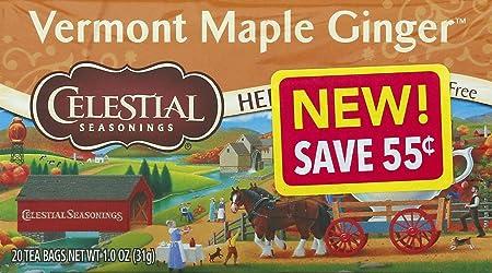 Celestial Seasonings Vermont Maple Ginger Tea, Single Box