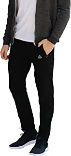 SCR SPORTSWEAR Mens Sweatpants with Pockets Tapered Slim Athletic fit Joggers Open Bottom Activewear Lounge Pants Long