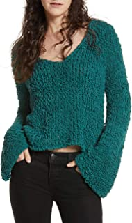 Womens Cropped Bell Sleeves Sweater