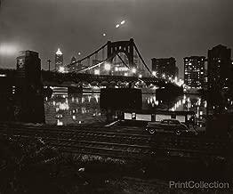 Print Collection Car Bridge River Night Pittsburgh Pa W. Eugene Smith 36