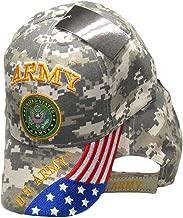 AES U.S. Army Seal Patriotic USA Flag Camo Embroidered Cap Hat Licensed CAP601GC