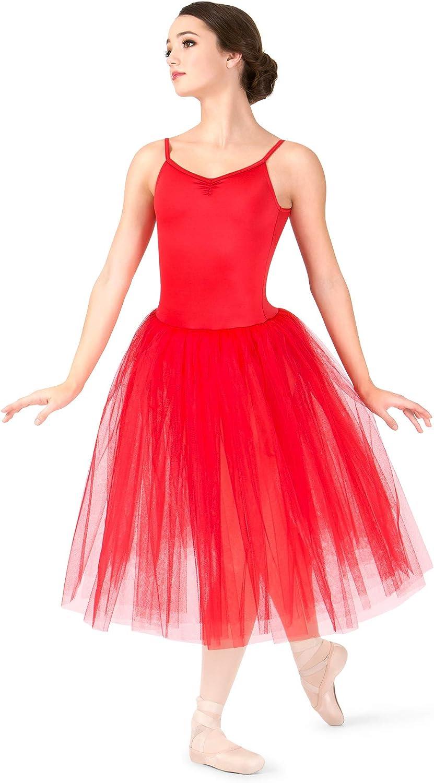 Natalie Dancewear Womens Soldering Romantic High material Length Ballet Dre 3-Layer Tutu
