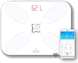 PICOOC S3 Lite Báscula digital personal Smart con Wifi, Blanco