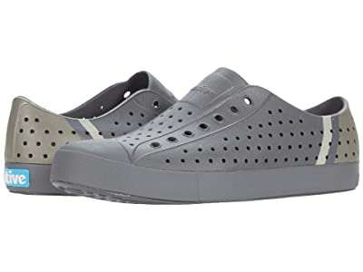 Native Shoes Jefferson Block (Dublin Grey/Dublin Grey/Rocky Stripe) Athletic Shoes