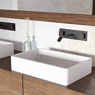 VIGO VG04010 Magnolia Matte Stone Vessel Bathroom Sink