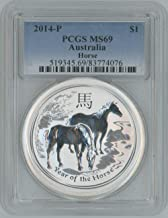 2014 P Australia Horse commemorative Year of the Horse $1 MS69 PCGS