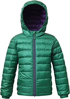 Rokka&Rolla Boys' Ultra Lightweight Hooded Packable Puffer Down Jacket