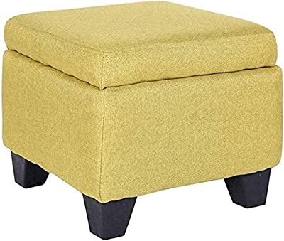 Footstools & Ottomans Footstool Sofa Stool Wooden Bench Seat-Solid Wood Storage Stool Flax Modern Fashion Change Shoe Bench Sponge Cushion Living Room (Color : B, Size : 40 * 40 *
