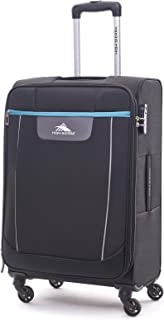High Sierra Travel Tank Softside Spinner Luggage 78cm with 3 digit Number Lock - Black