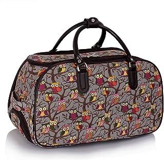91b0d64feb sac de femme Owl / Papillon Print Avec Roues bagage femme Fin de semaine sac  main